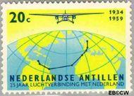 Nederlandse Antillen NA 308  1959 Luchtverbinding Nederland 20 cent  Gestempeld