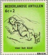 Nederlandse Antillen NA 318  1961 Kinderen 6+2 cent  Gestempeld
