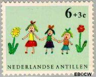 Nederlandse Antillen NA 339  1963 Kindertekeningen 6+3 cent  Gestempeld