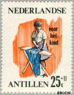 Nederlandse Antillen NA 379  1966 Werken 25+11 cent  Gestempeld
