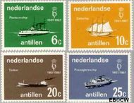 Nederlandse Antillen NA 380#383  1967 Vereniging 'Onze Vloot'  cent  Gestempeld