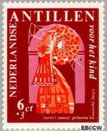 Nederlandse Antillen NA 389  1967 Nanzi-verhaal 6+3 cent  Gestempeld