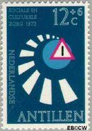 Nederlandse Antillen NA 469  1973 Veilig verkeer 12+6 cent  Gestempeld