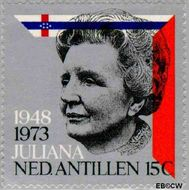 Nederlandse Antillen NA 479  1973 Regeringsjubileum Juliana 15 cent  Gestempeld