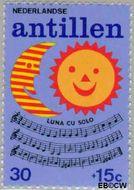 Nederlandse Antillen NA 499  1974 Kinderliedjes 30+15 cent  Gestempeld