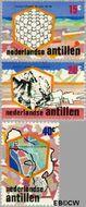 Nederlandse Antillen NA 506#508  1975 Zoutindustrie  cent  Gestempeld