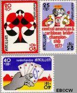 Nederlandse Antillen NA 537#539  1977 Bridge-toernooi Aruba  cent  Gestempeld