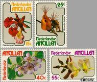 Nederlandse Antillen NA 580#583  1978 Bloemen  cent  Gestempeld