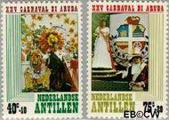 Nederlandse Antillen NA 616#617  1979 Arubaans carnaval  cent  Gestempeld