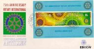 Nederlandse Antillen NA E129a  1980 Rotary International 85 cent  FDC zonder adres