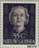 Nieuw-Guinea NG 17  1950 Type 'En Face' 55 cent  Gestempeld