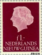 Nieuw-Guinea NG 37  1955 Type 'En Profile' 100 cent  Gestempeld