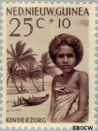 Nieuw-Guinea NG 47  1958 Papoea-kinderen 25+10 cent  Gestempeld