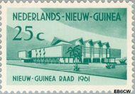 Nieuw-Guinea NG 67  1961 1e zitting Nieuw-Guinearaad 25 cent  Gestempeld