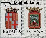 SPA 1338#1339 Postfris 1962 Provinciewapens