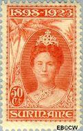 Suriname SU 107  1923 Regeringsjubileum Wilhelmina 1898-1923 50 cent  Gestempeld