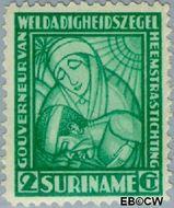 Suriname SU 138  1928 Van Heemstra stichting 2+2 cent  Gestempeld