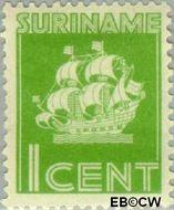 Suriname SU 158  1936 Scheepje 1 cent  Gestempeld