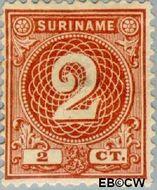 Suriname SU 17  1890 Drukwerkzegel 2 cent  Gestempeld
