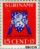 Suriname SU 198  1941 Vrij Nederland 15+15 cent  Gestempeld