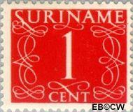 Suriname SU 249  1948 Cijferzegels 1 cent  Gestempeld