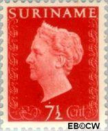 Suriname SU 259  1948 Koningin Wilhelmina 7½ cent  Gestempeld