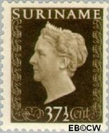 Suriname SU 269  1948 Koningin Wilhelmina 37½ cent  Gestempeld