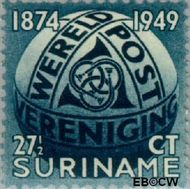 Suriname SU 279  1949 U.P.U. 27½ cent  Gestempeld