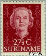 Suriname SU 289  1951 Type 'En Profile' 27½ cent  Gestempeld