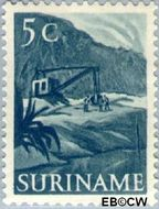 Suriname SU 299  1953 Inheemse voorstellingen 5 cent  Gestempeld