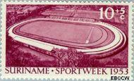Suriname SU 309  1953 Opening stadion Paramaribo 10+5 cent  Gestempeld