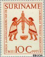 Suriname SU 319  1955 Vergadering Caribbean Tourist Association 10 cent  Gestempeld