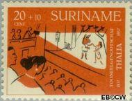 Suriname SU 329  1958 Toneelgezelschap Thalia 20+10 cent  Gestempeld