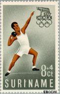Suriname SU 349  1960 Olympisch Comité 8+4 cent  Gestempeld