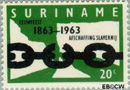 Suriname SU 397  1963 Afschaffing slavernij 20 cent  Gestempeld