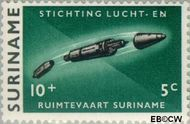 Suriname SU 407  1964 Stichting Lucht- en Ruimtevaart 10+5 cent  Gestempeld