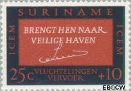 Suriname SU 437  1966 ICEM 25+10 cent  Gestempeld