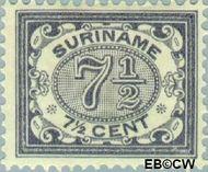 Suriname SU 47  1902 Drukwerkzegel 7½ cent  Gestempeld