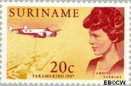 Suriname SU 477  1967 Bezoek Emelia Earhart 20 cent  Gestempeld