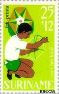 Suriname SU 487  1967 Kinderspelen 25+12 cent  Gestempeld