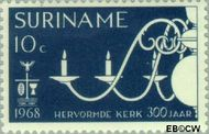 Suriname SU 497  1968 Hervormde Kerk te Paramaribo 10 cent  Gestempeld