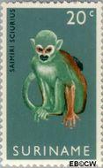 Suriname SU 517  1969 Ingebruikstelling dierentuin 20 cent  Gestempeld