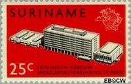 Suriname SU 537  1970 Nieuwe gebouw U.P.U. 25 cent  Gestempeld