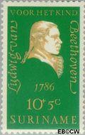Suriname SU 547  1970 Componisten 10+5 cent  Gestempeld