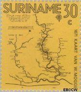 Suriname SU 567  1971 Kaarten van Suriname 30 cent  Gestempeld