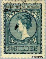Suriname SU 57  1907 Medaillon 250 cent  Gestempeld