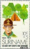 Suriname SU 627  1974 Padvinderij in Suriname 10+5 cent  Gestempeld