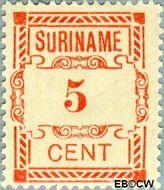 Suriname SU 67  1912 Hulpuitgifte 5 cent  Gestempeld