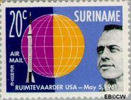 Suriname SU LP34  1961 Eerste ruimtevaarders 20 cent  Gestempeld