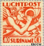 Suriname SU LP4  1930 Mercurius 40 cent  Gestempeld